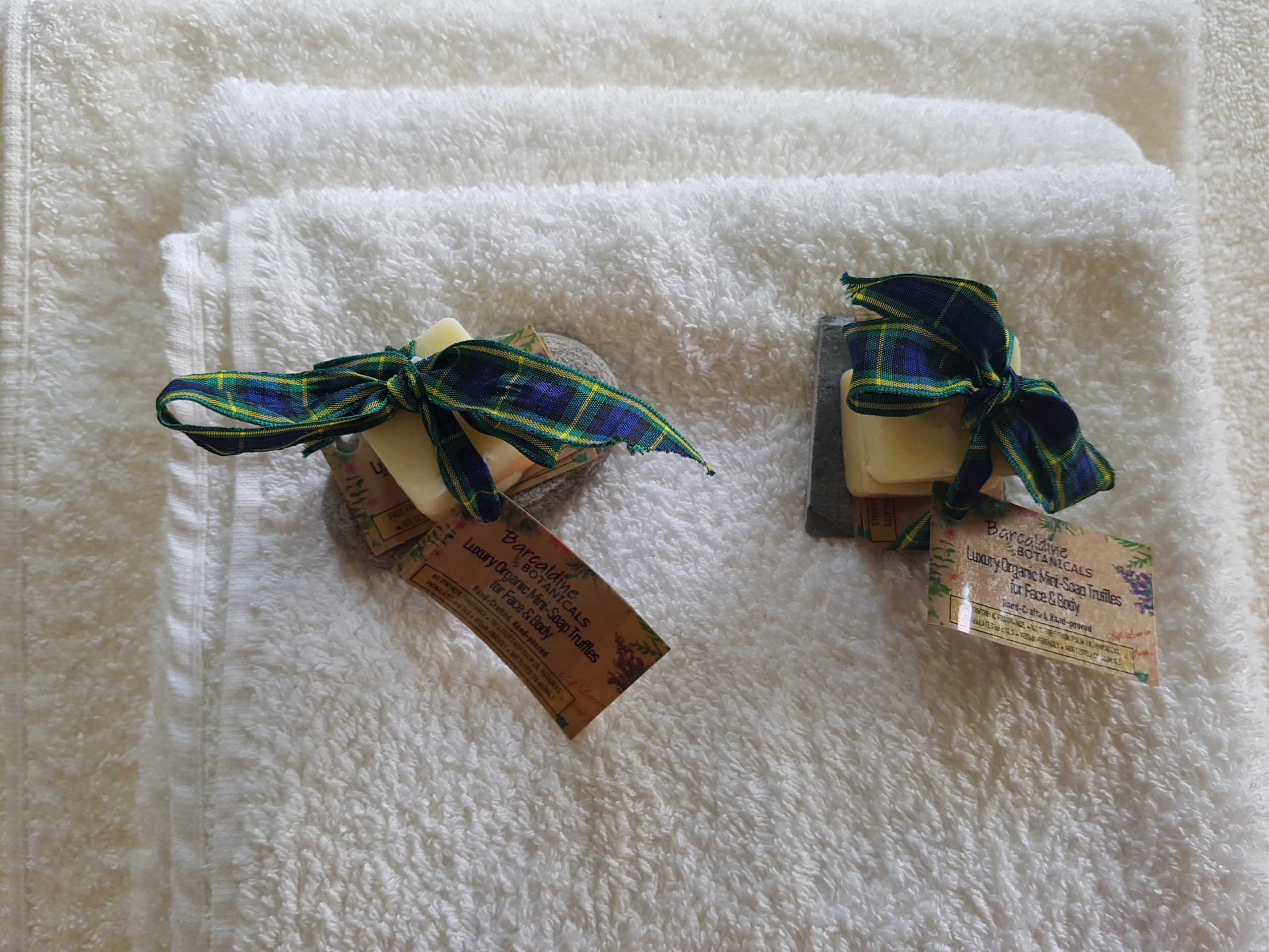 Hand made local complementary soap for each guest