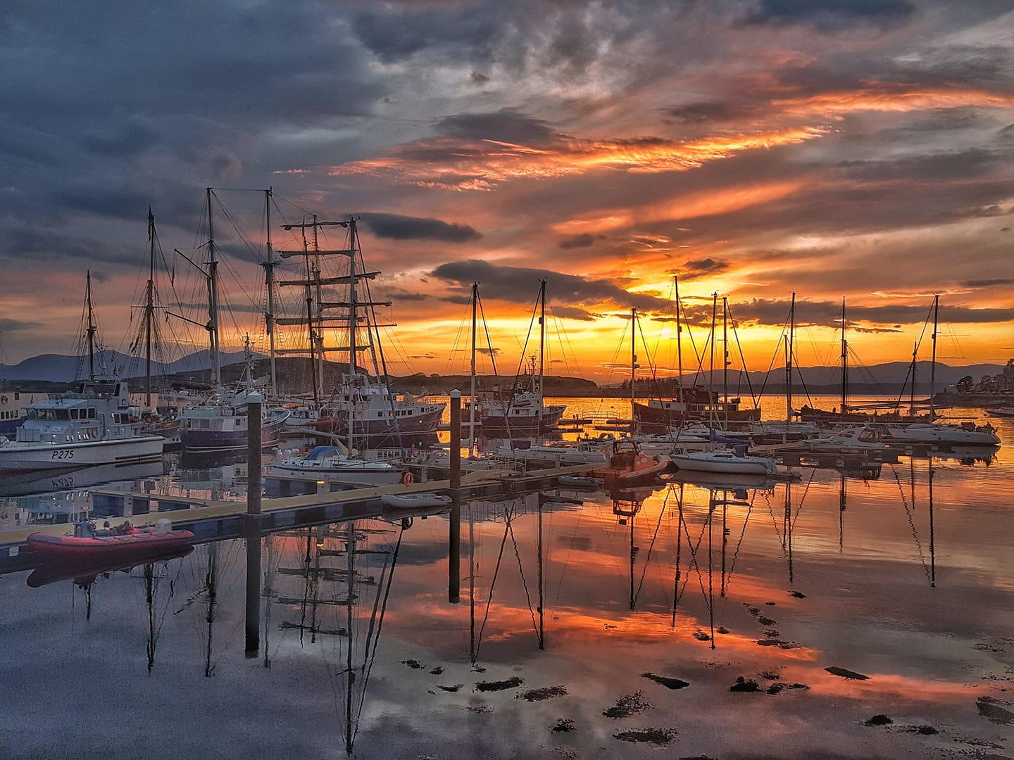 Sheila MacIntyre sunset over pontoons