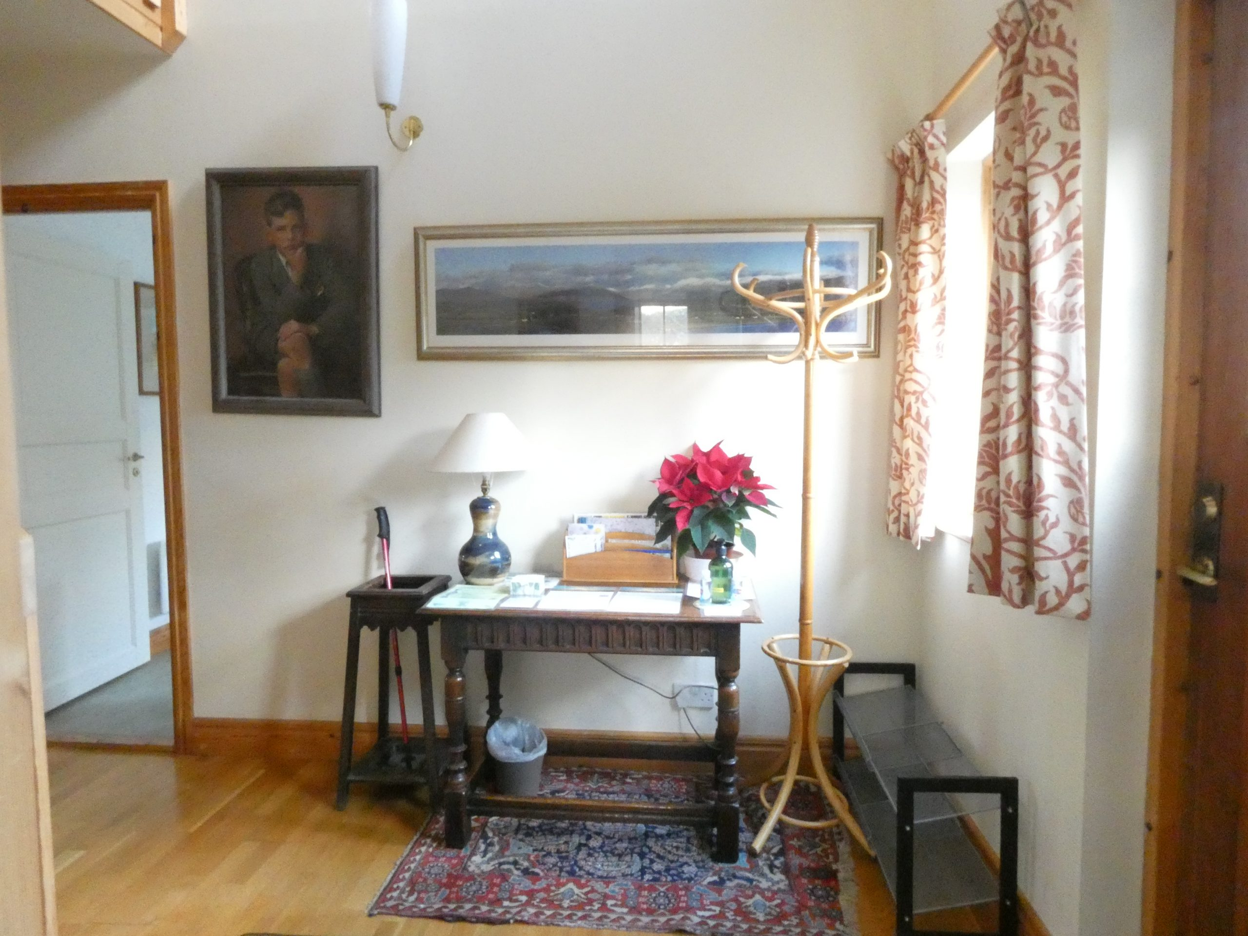 Visitors table in the entrance hall