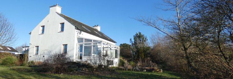 Kintaline house from garden winter skies header