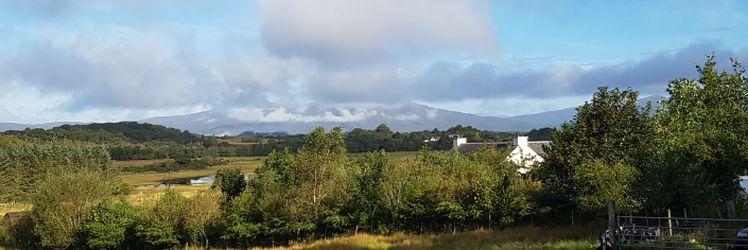 View over Kintaline house to Morvern