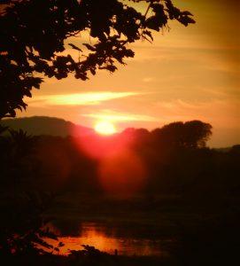 sunset at Kintaline house  self catering benderloch